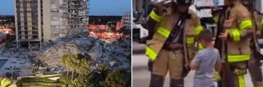 Menino demonstra gentileza levando doces para bombeiros após tragédia