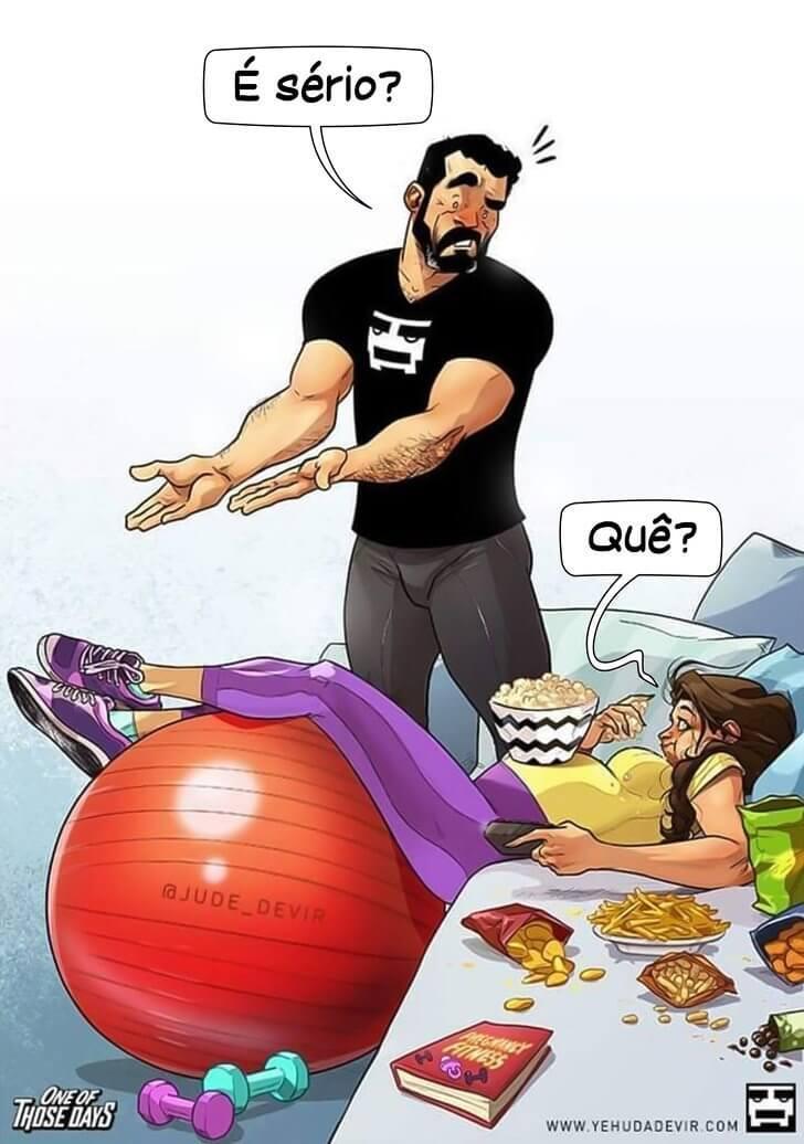 Artista israelense e sua esposa conquistam milhões de pessoas com seus comics sobre a espera de um bebê - Papo de Pai