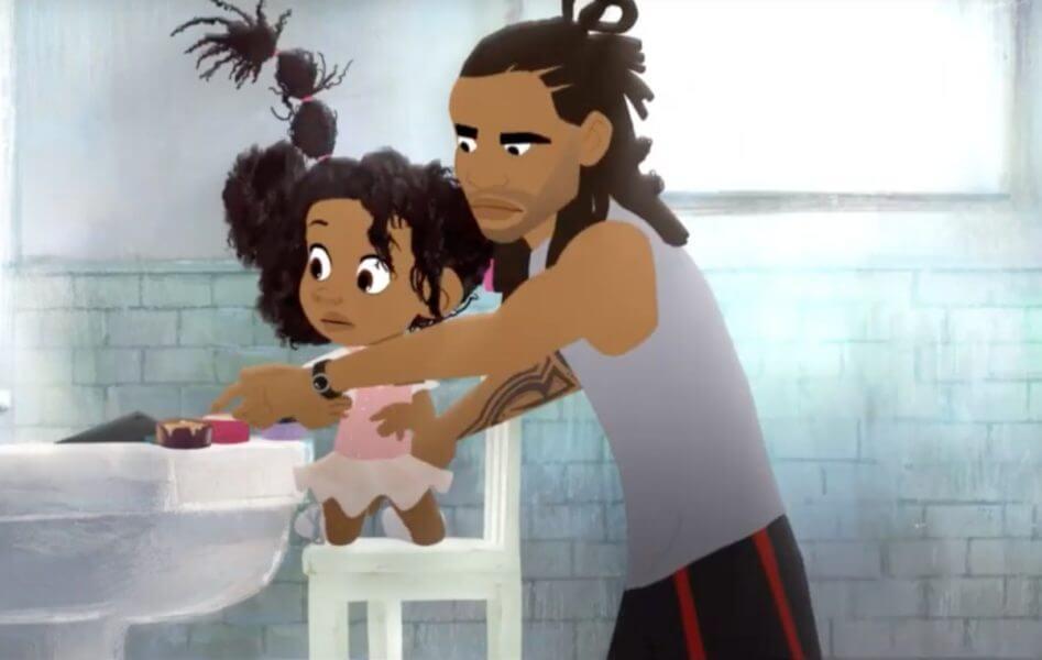 Curta de animação mostra o amor de um pai ao arrumar o cabelo da filha - Papo de Pai
