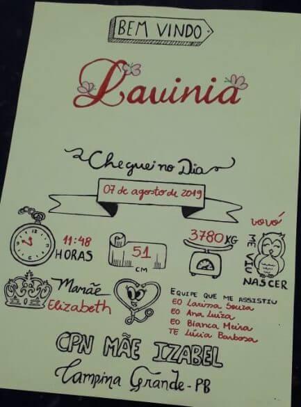 Enfermeiras fazem fichas criativas de nascimento de crianças