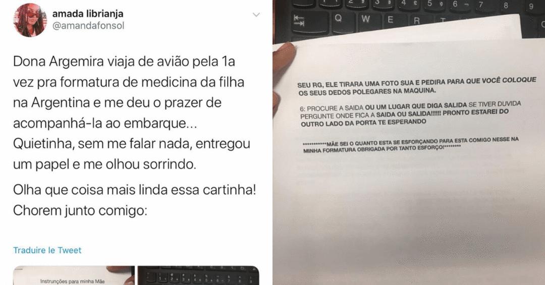 Filha escreve carta que ensina mãe a viajar de avião - Papo de Pai