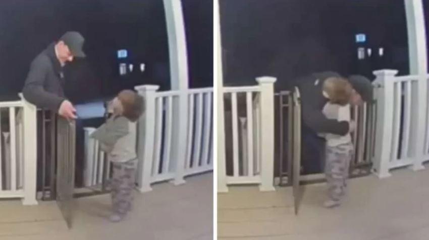 Menina surpreende entregador com abraço sem saber da morte da filha dele e vídeo viraliza