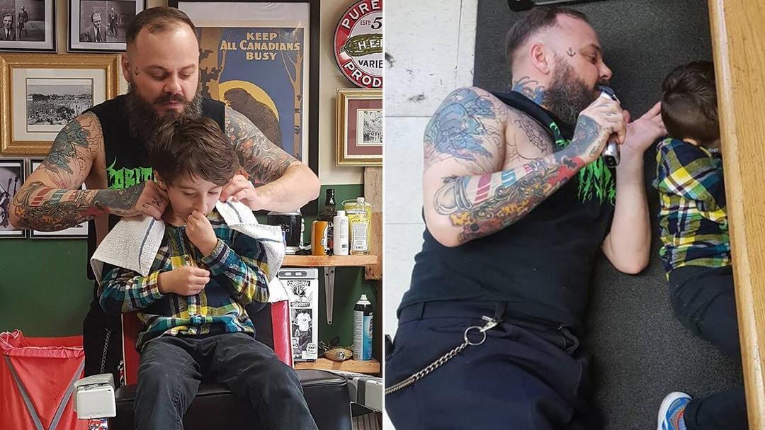 Barbeiro fica famoso por atendimento carinhoso a crianças especiais - Papo de Pai