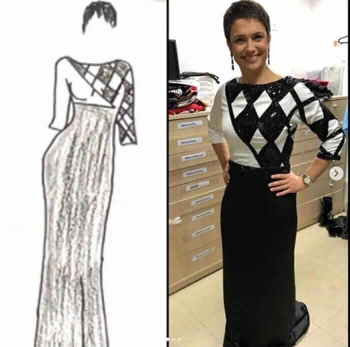 Em premiação, Sandra Annenberg usa vestido desenhado por jovem autista - Papo de Pai