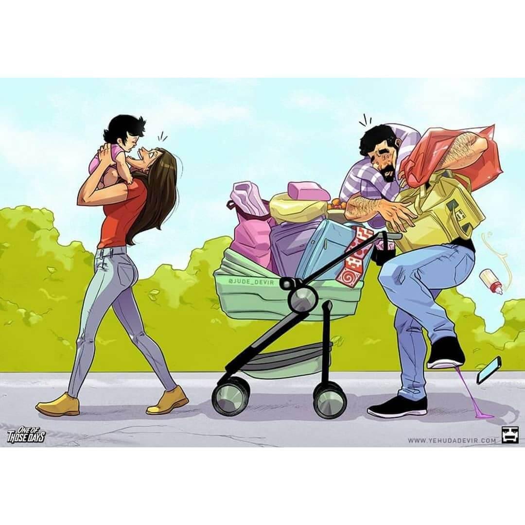 Artista israelense e sua esposa fazem sucesso com quadrinhos sobre a espera de bebê - Papo de Pai