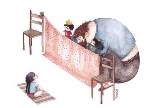 Ilustradora retrata a beleza de ser pai de menina